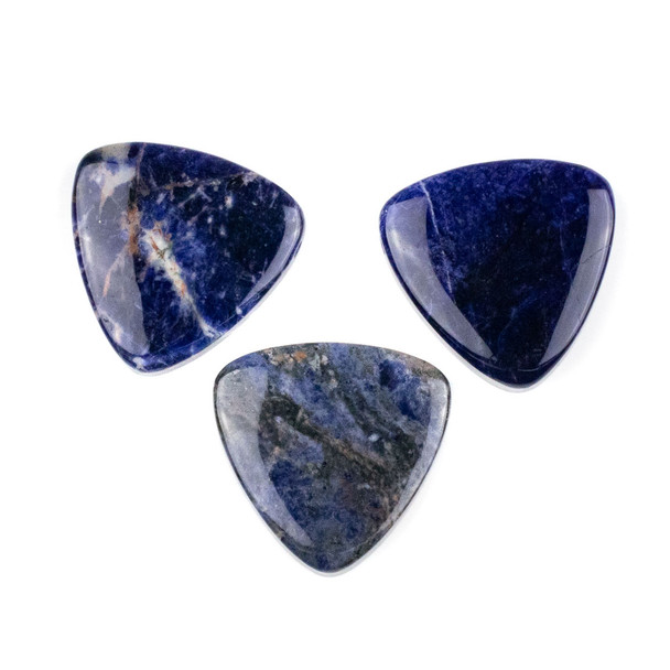 Sodalite 35mm Top Drilled Inverted Triangle Pendant - 1 per bag