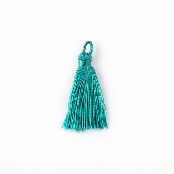 "Spearmint Green 1.5"" Nylon Tassels - 2 per bag"