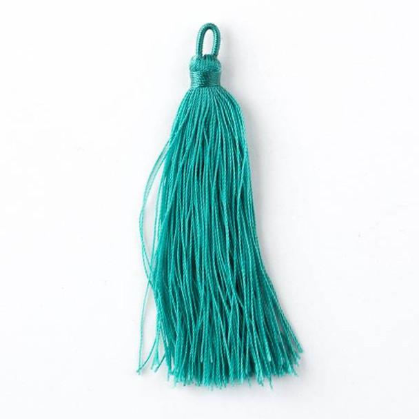 "Spearmint Green 3"" Nylon Tassels - 2 per bag"