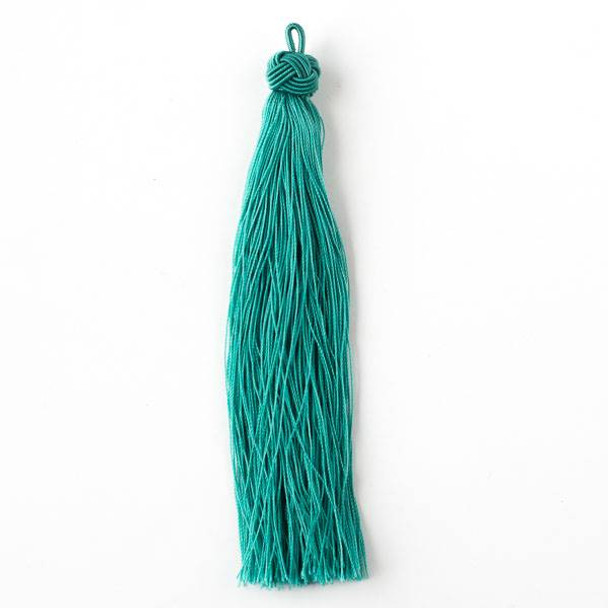 "Spearmint Green 5"" Nylon Tassels - 2 per bag"