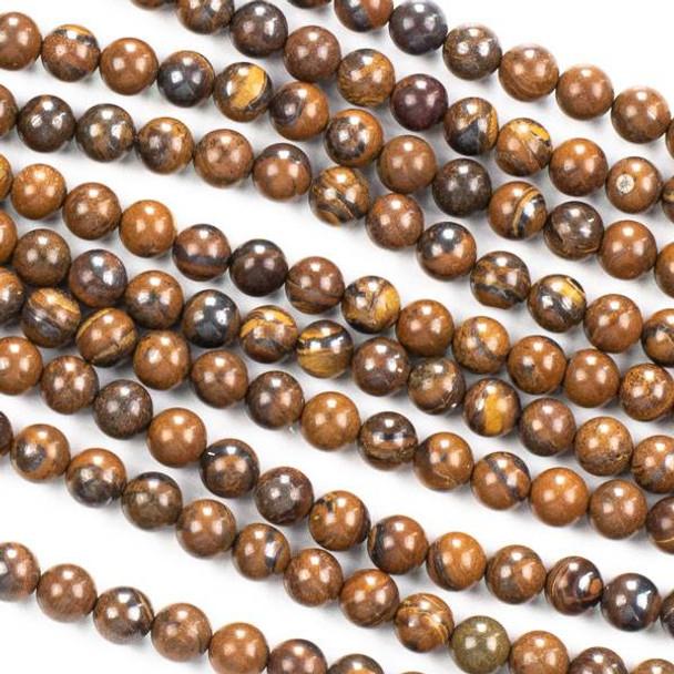 Tiger Iron Jasper 6mm Round Beads - 16 inch strand