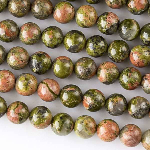 Unakite 6mm Round Beads - approx. 8 inch strand, Set A