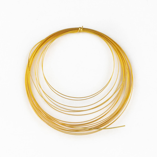 18 Gauge Coated Non-Tarnish Gold Plated Copper Half Round Wire in 4-Yard Coil