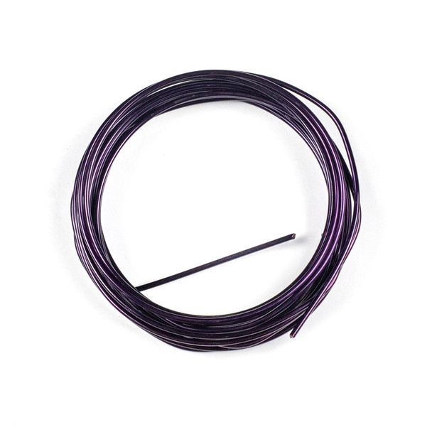 14 Gauge Coated Non-Tarnish Purple Plated Copper Wire in a 10 Foot Coil
