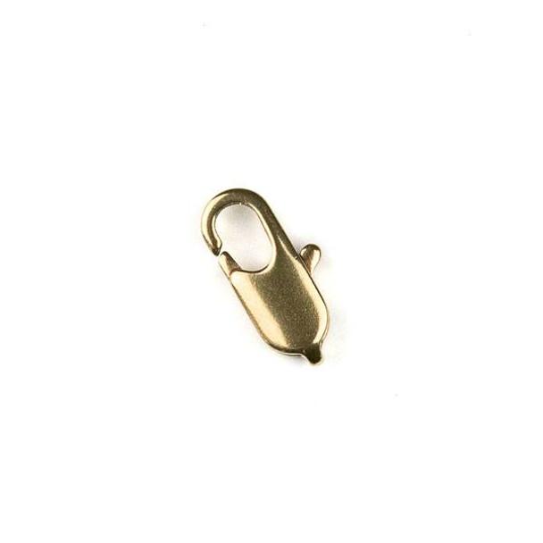 Raw Brass 6x12mm Lobster Clasp - 12 per bag