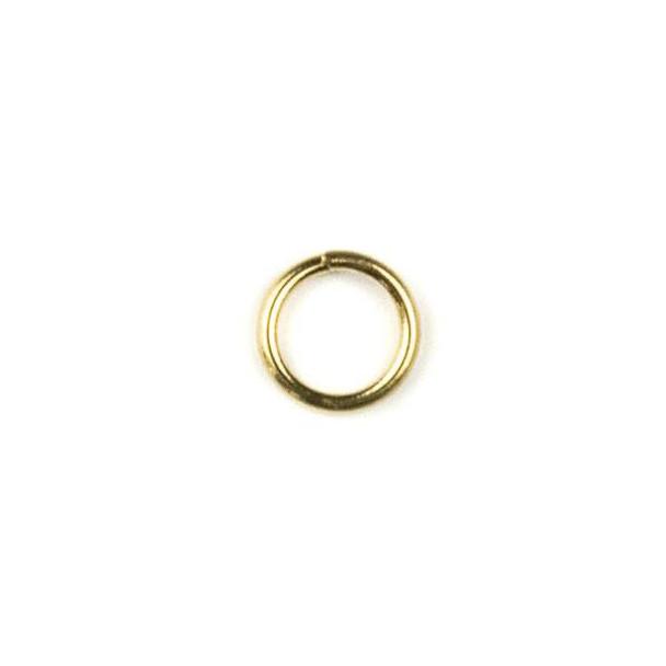 Raw Brass 6mm Open Jump Rings - 100 per bag