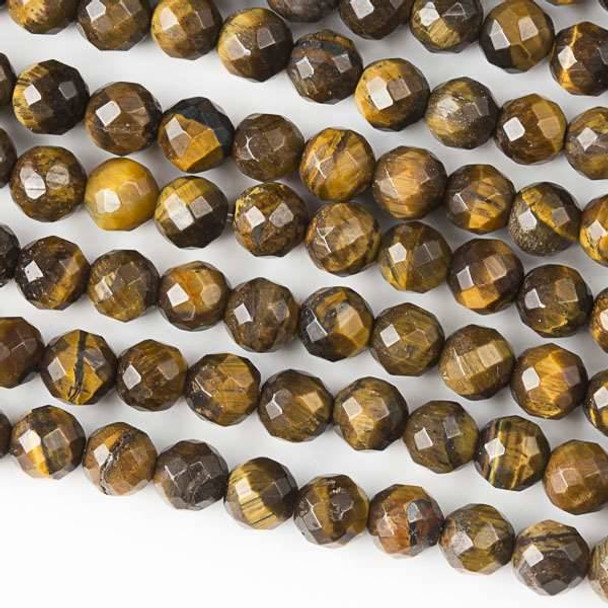 Yellow Tigereye Faceted 6mm Round Beads - approx. 8 inch strand, Set B