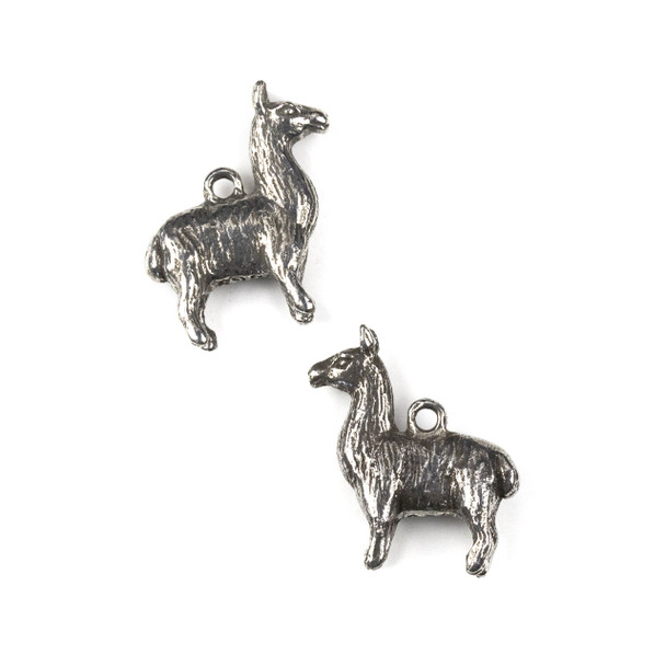 Green Girl Studios Pewter 26x28mm Llama Charm - 1 per bag