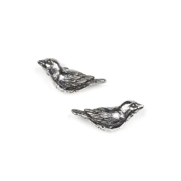 Green Girl Studios Pewter 11x27mm Sparrow Bird Bead - 1 per bag