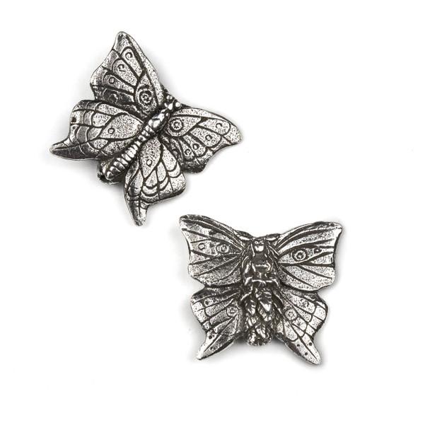 Green Girl Studios Pewter 26x30mm Butterfly Faerie Pendant - 1 per bag