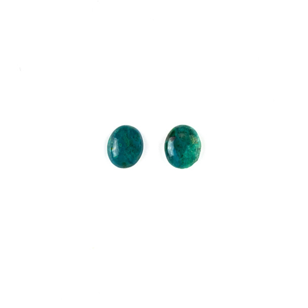 Chrysocolla 8x10mm Oval Cabochon - 2 per bag