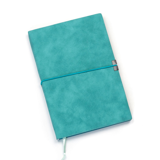 """Dotted Bullet Journal - Aqua, Hardcover, 120 pages, 5.5x8.25"""""""
