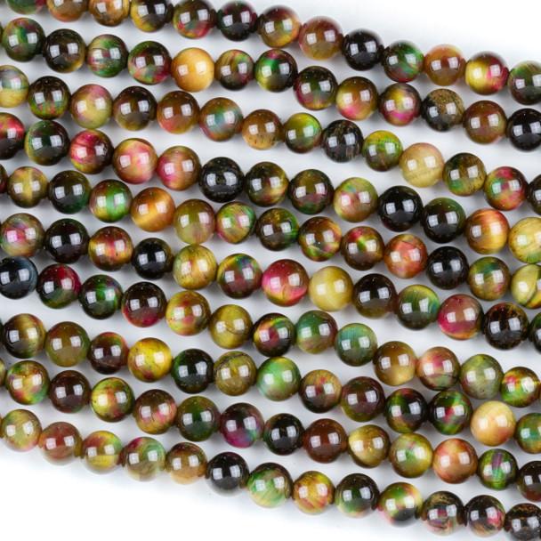 Rainbow Tigereye 6mm Round Beads - 15 inch strand
