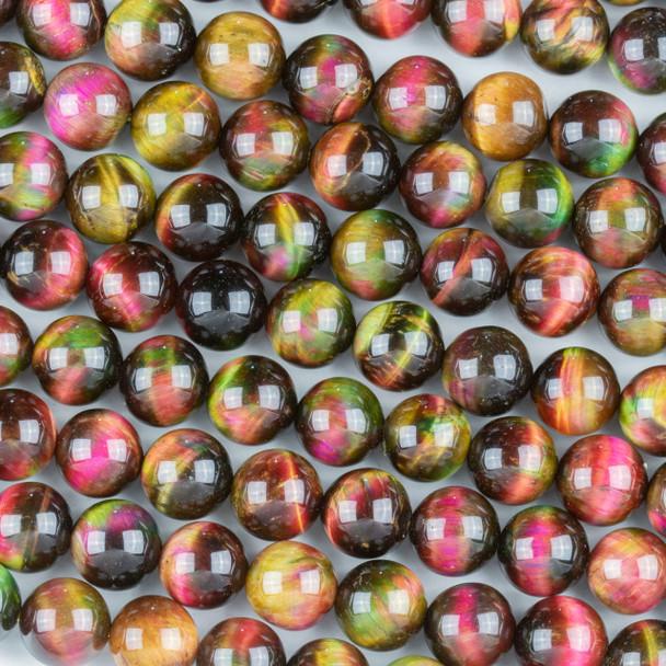 Rainbow Tigereye 10mm Round Beads - 15 inch strand