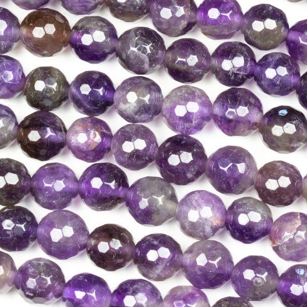 Amethyst Faceted 8mm Round Beads - approx. 8 inch strand, Set B