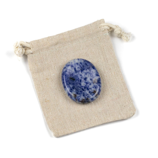 Blue Spot Jasper Worry Stone - 1 per bag