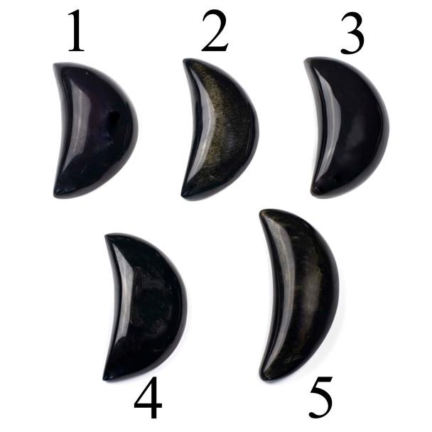 Golden Sheen Obsidian Moon - 1 per bag
