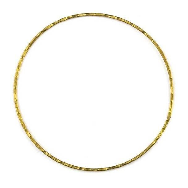 Coated Brass 60mm Textured Hoop Components - 6 per bag - CTBYH-013c
