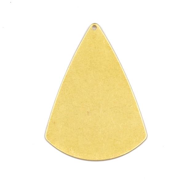 Coated Brass 31x42mm 2D Cone Shaped Drop Components - 6 per bag - CTBXJ-057c