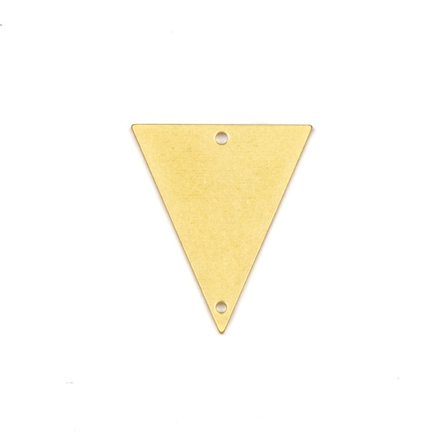 Coated Brass 22x25mm Triangle Link Components - 6 per bag - CTBPF-006c