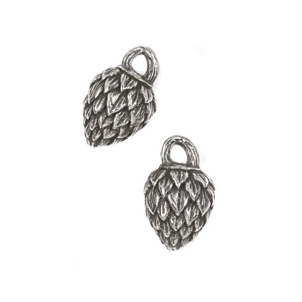 Green Girl Studios Pewter 14x23mm Mystery Nut Dangle - 1 per bag