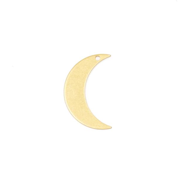 Coated Brass 12x21mm Crescent Moon Component - 6 per bag - CG01260c