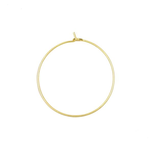 Coated Brass 30mm Hoop Ear Wires - 6 per bag - CTBXJ-028c