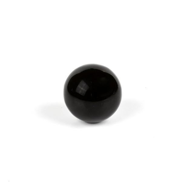 """Black Obsidian Sphere #1 - approx. 1.25-1.5"""", 1 piece"""