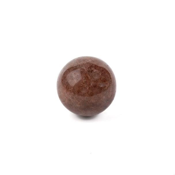 "Gold Rutilated Quartz Sphere #6 - approx. 1.5"", 1 piece"