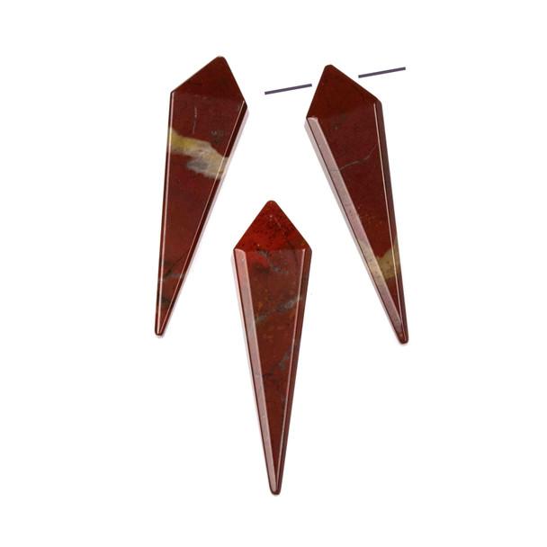 Rainbow Jasper 11x44mm Top Drilled Kite Pendant - 1 per bag