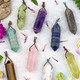 Gemstone Point Pendants