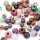 Large Hole Gemstone Rounds