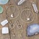 Celestial Brass Earrings