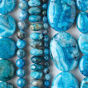 Blue Crazy Lace Agate Teardrop Pendant Bead Focal Bead
