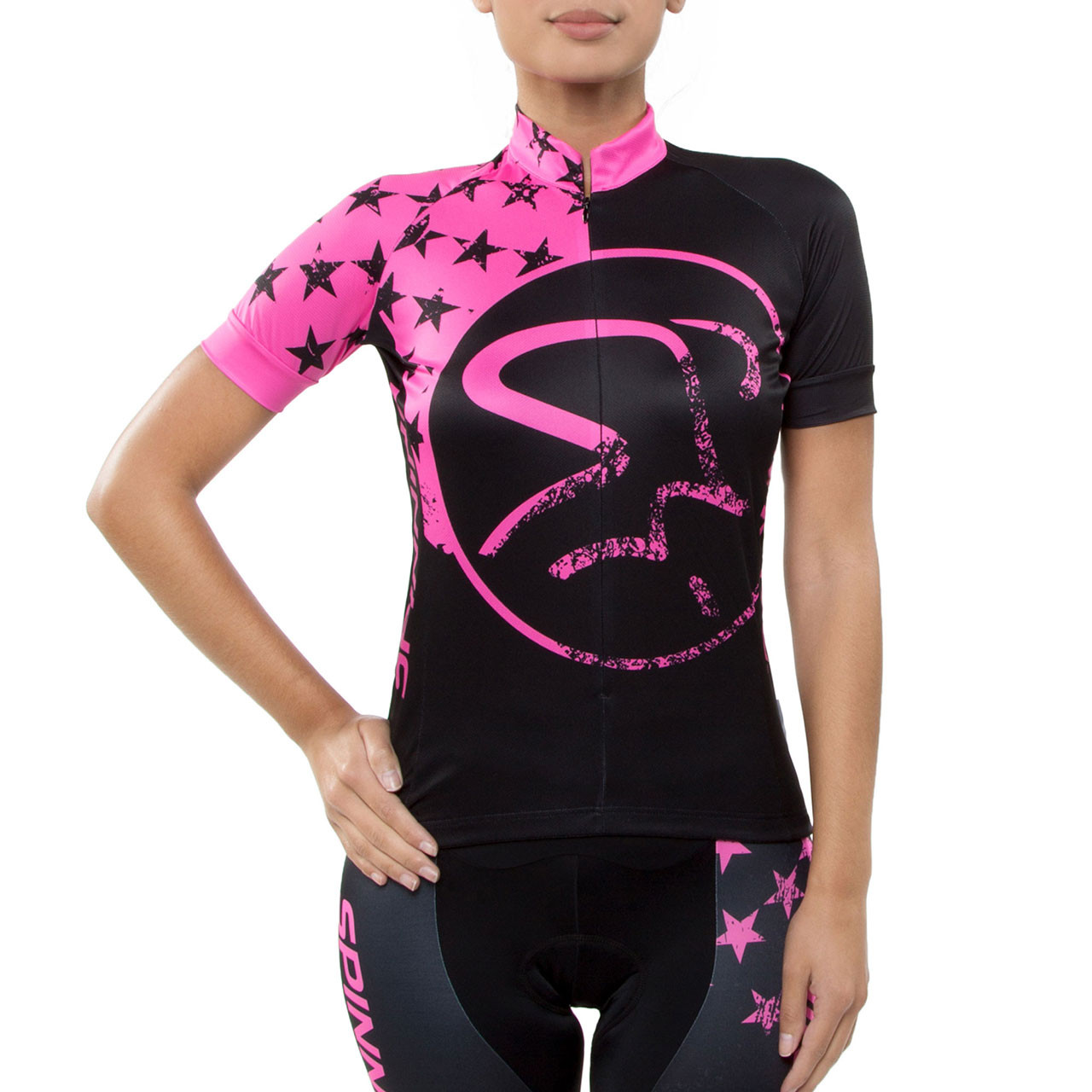 Spinning Gemini Women S Cycling Jersey Pink Spinning
