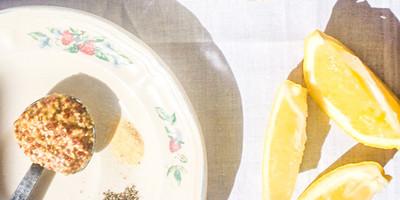 Paleo Creamy Lemon Dijon Salad Dressing | Katie Bressack