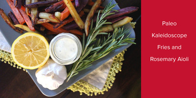 Paleo Kaleidoscope Fries and Rosemary Aioli | Leslie Klenke