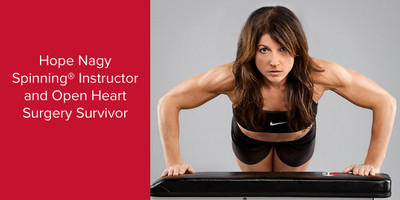 Hope Nagy   Certified Spinning® Instructor and Open Heart Surgery Survivor