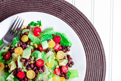 Southwest Chopped Salad with Cilantro Lime Dressing