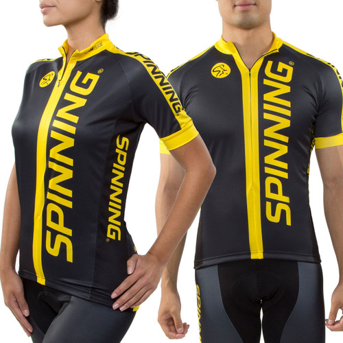 Spinning® Team Unisex Short Sleeve Cycling Jersey - Yellow