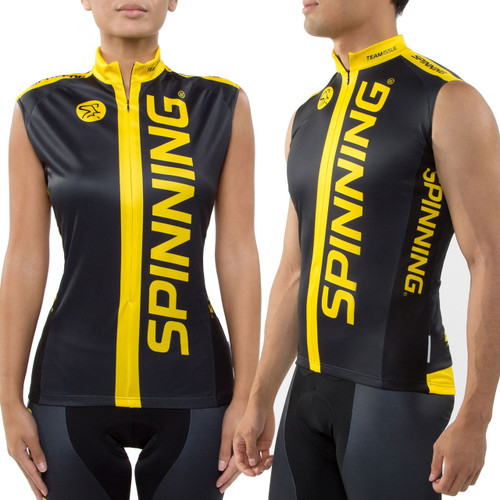 Spinning® Team Unisex Sleeveless Cycling Jersey - Yellow