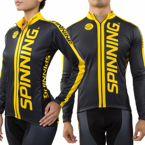 Spinning® Team Unisex Cycling Jacket - Yellow