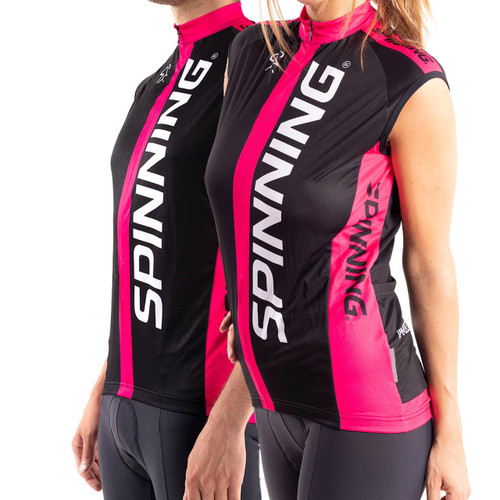 Spinning® Team Sleeveless Unisex Cycling Jersey - Pink