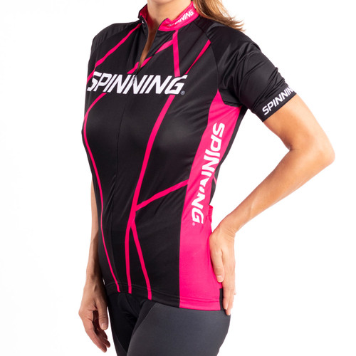 Spinning® Team Women's Short Sleeve Elbrus FUXIA Cycling Jersey - Pink