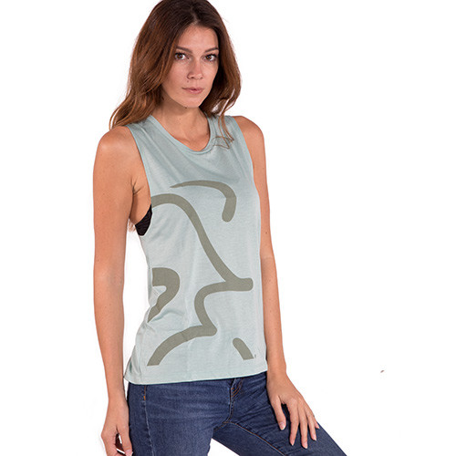 Spinning® Women's Flow Scoop Muscle Tank - Green