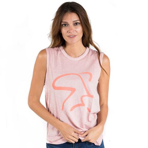 Spinning® Inside Out Garment Dyed Slub Sleevless T-Shirt - Rose Quartz Pigment