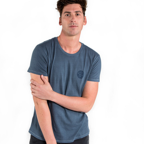 Spinning® Heritage Garment Dyed Distressed T-Shirt - Dark Blue Pigment