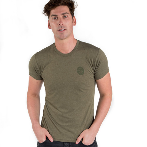 Spinning® USA TriBlend Crew Shirt - Military Green