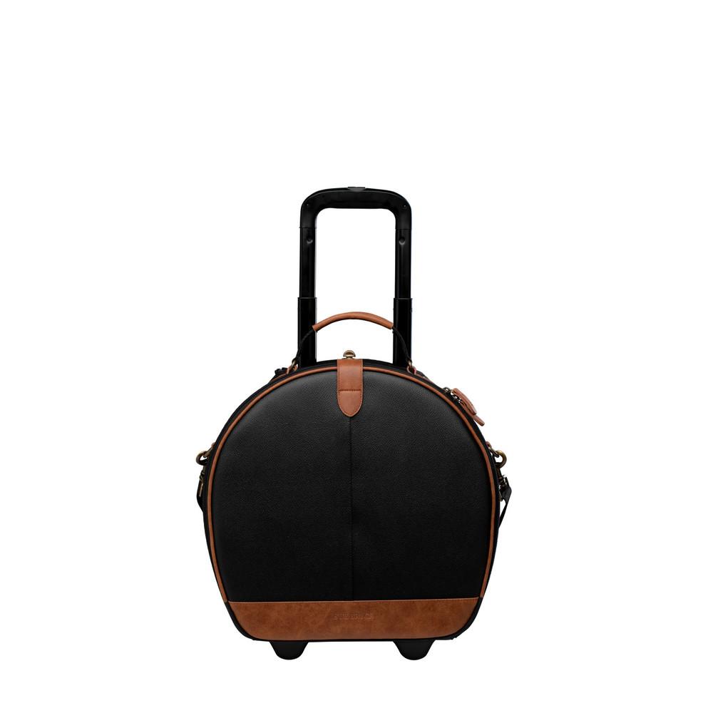 Sue Bryce Hat Box Roller - Black/Brown