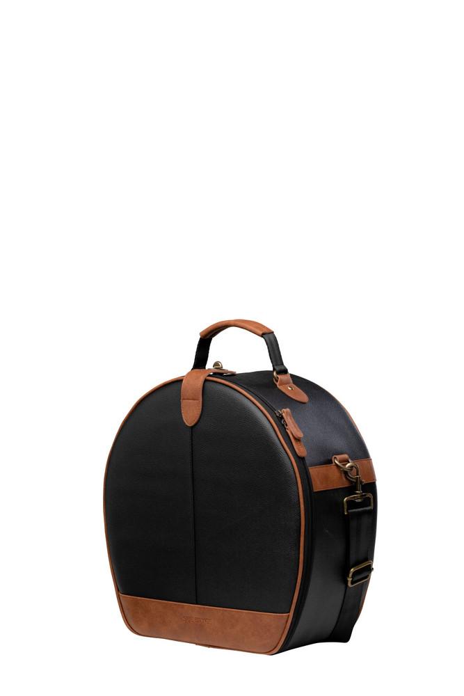 Sue Bryce Hat Box Shoulder Bag - Black/Brown